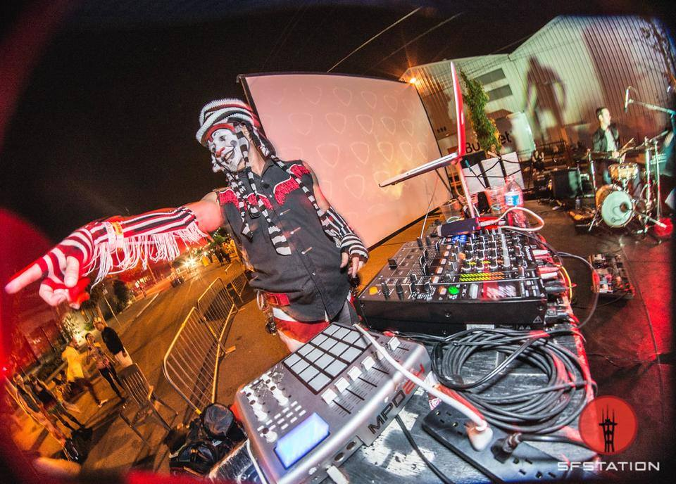 The Klown DJing at Burning Man's Decompression in San Francisco
