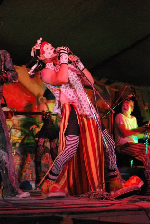 The Klown with Gooferman at Burning Man