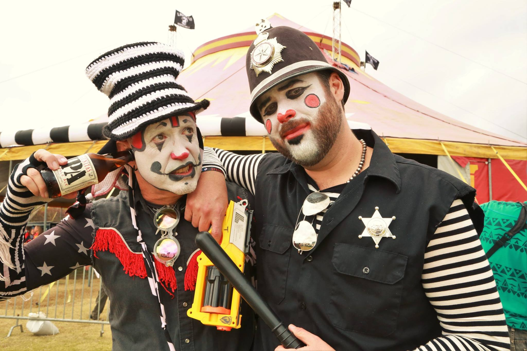 The Klown at Lagunitas Beer Circus with Charley Copper of The Kops