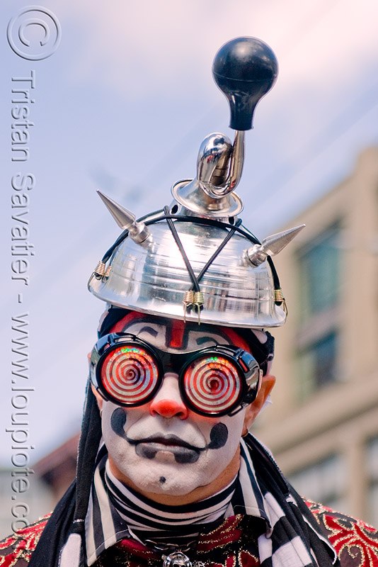 The Klown at Burning Man's Decompression Street Party