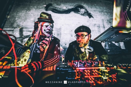The Klown & Delachaux - DJing Trapeze Worldwide, with MarchFourth, at Mezzanine in San Francisco