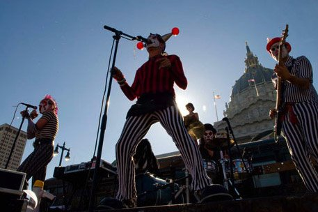 The Klown - Bus-top set with Gooferman at LoveFest in San Francisco