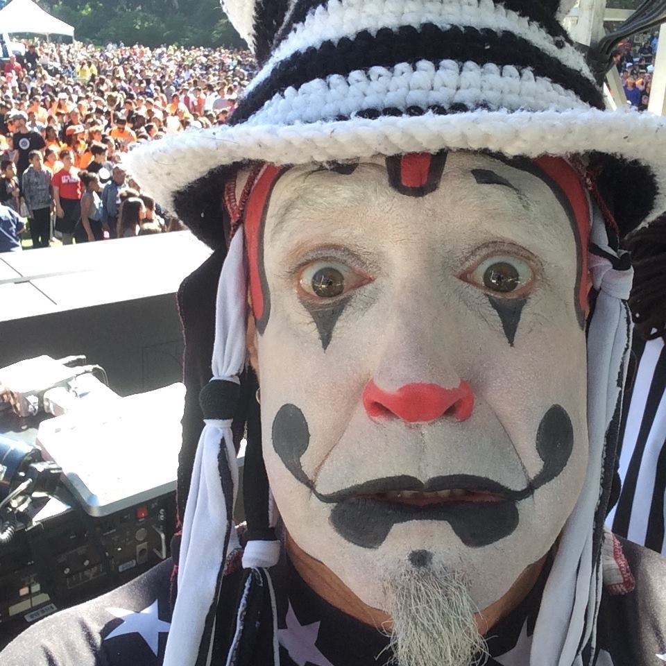 The Klown about to DJ at Hardly Strictly Bluegrass