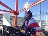 The Klown DJing at SuperHero Street Fair in San Francisco