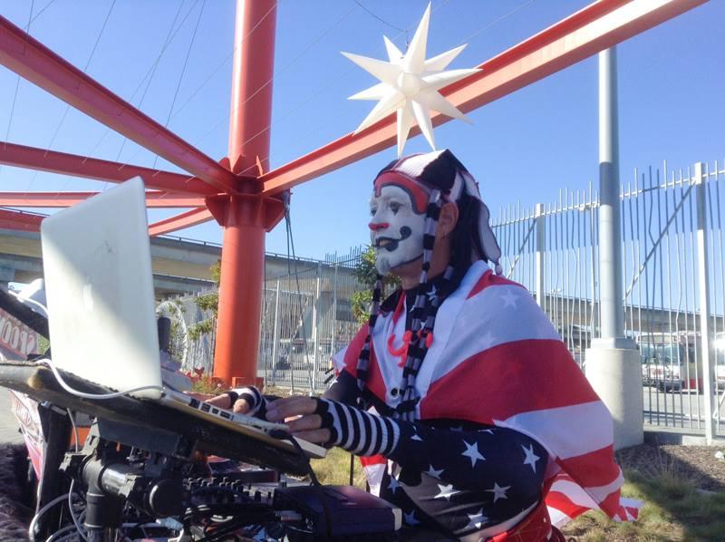 The Klown DJing at SuperHero Street Fair in San Francisco