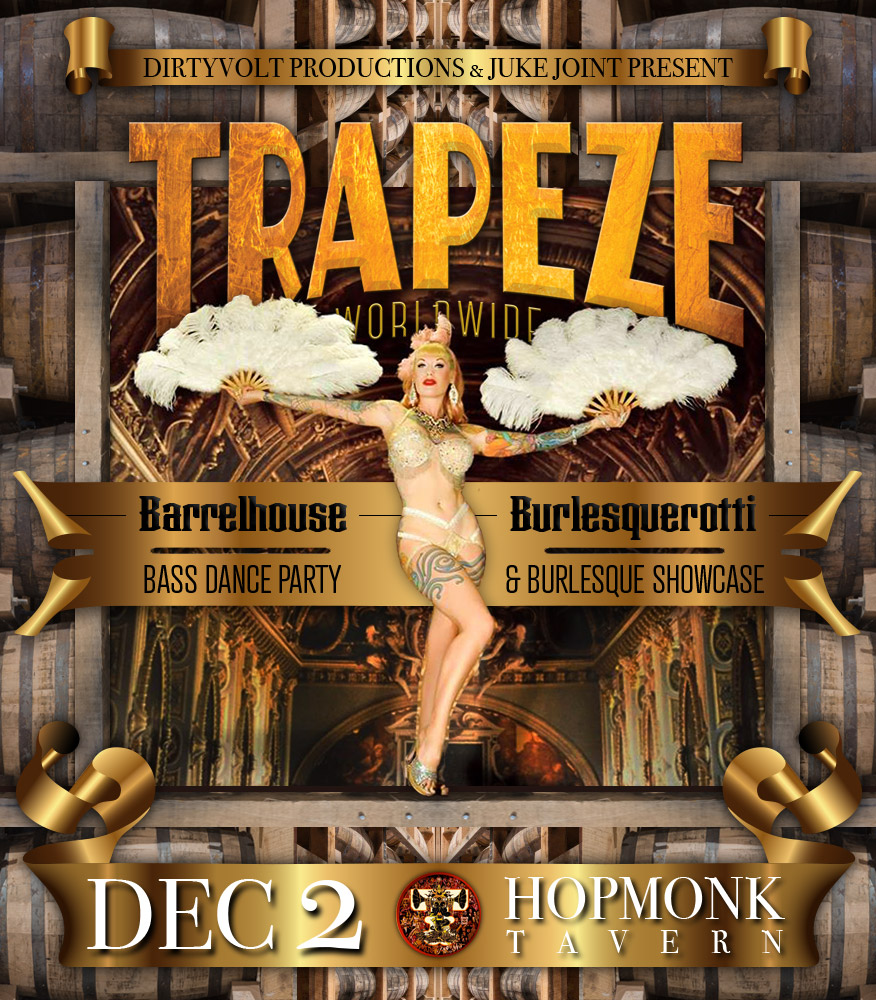 The Klown DJs at 'Trapeze: Barrelhouse Burlesquerotti' - December 2, 2017 - Hopmonk Tavern in Sebastopol, California