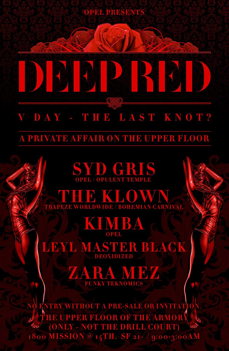Deep Red V Party - February 17, 2018 - The Armory Upper Floor, San Francisco