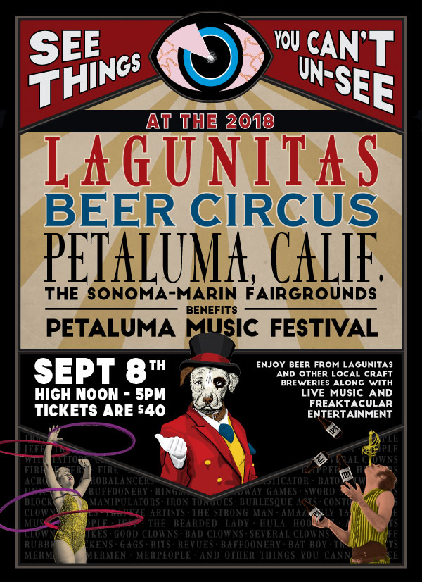 The Klown & Gooferman perform at Lagunitas Beer Circus - September 8, 2018, 12p-5p - Marin-Sonoma Fairgrounds in Petaluma, California