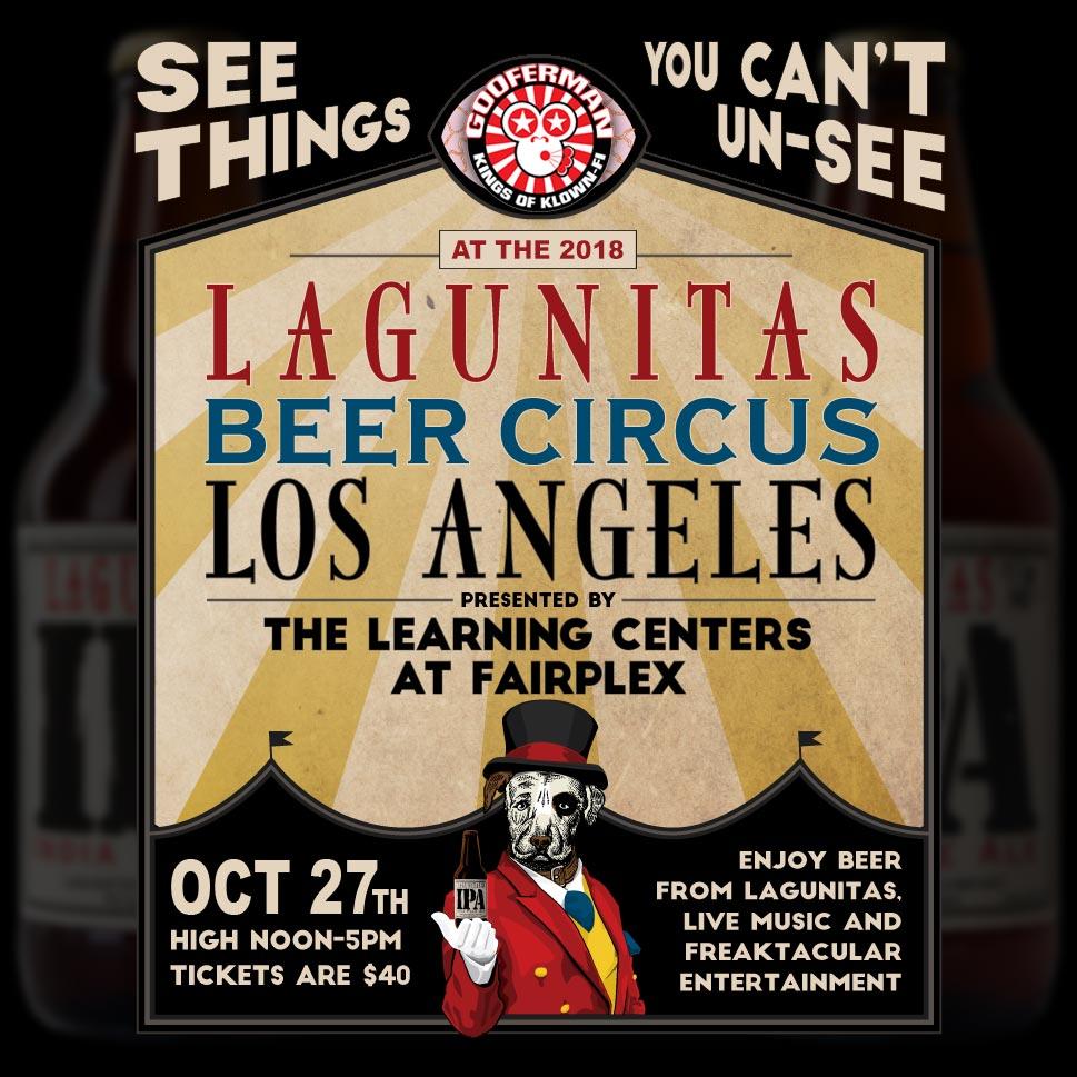 The Klown performs at Lagunitas Beer Circus - October 27, 2018, 12p-5p - Fairplex Exhibition Complex in Pomona, California