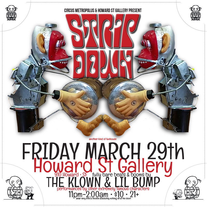 The-Klown-190329-Howard-Street-Gallery-flyer-square