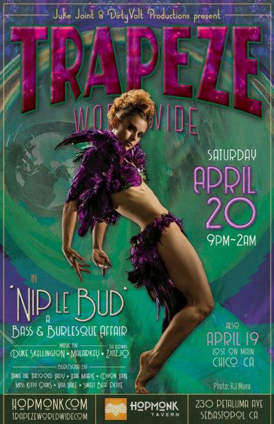 DirtyVolt Productions & Juke Joint present the 'Nip le Bud' whirled tour - April 20, 2019 - Hopmonk Tavern in Sebastopol, California