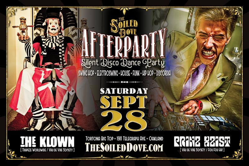 The Klown DJs at The Soiled Dove Silent Disco Afterparty - Saturday, September 28, 2019 - Tortona Big Top in Oakland, California