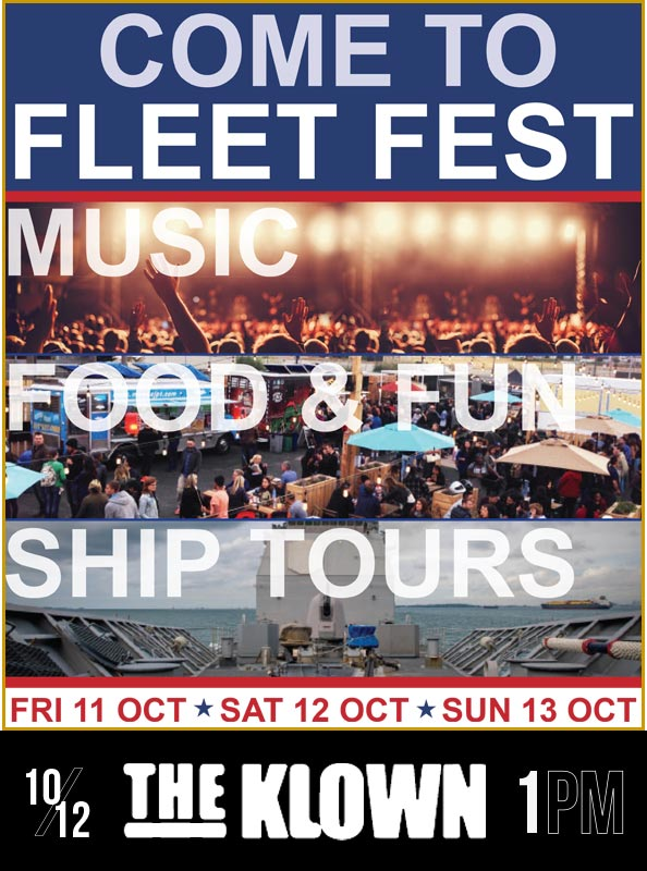 The Klown - DJ set at Fleet Week SF's Fleet Fest - October 12, 2019, 1pm - Pier 32, San Francisco