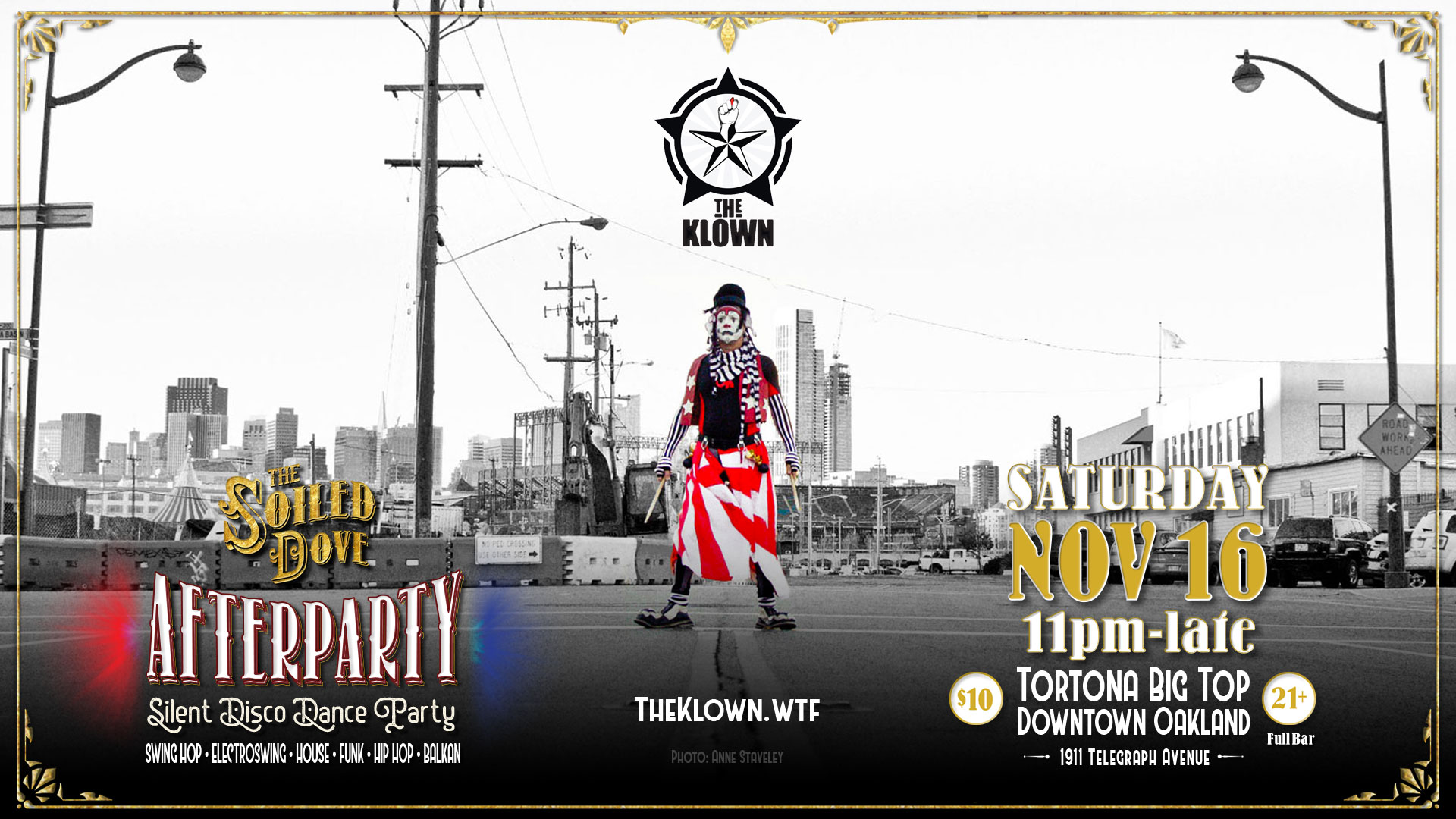 The Klown DJ residency at The Soiled Dove Silent Disco Afterparty - Saturday, November 16, 2019 - Tortona Big Top in Oakland, California