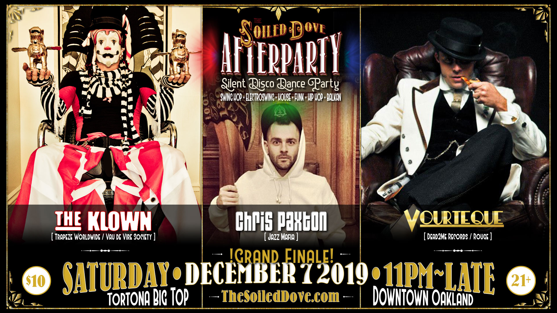The Klown DJ residency at The Soiled Dove Silent Disco Afterparty - Saturday, December 7, 2019 - Tortona Big Top in Oakland, California